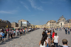Versailles queues. Infamous entrance queues in front of Palace of Versailles, France Royalty Free Stock Photo