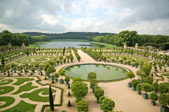 Versailles trädgård Arkivfoto