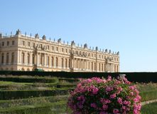 Versalilles. Palace of Versailles landscape. Evening sunlight Stock Images