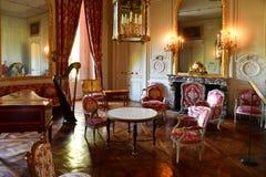 Versalles; Francia - 14 de octubre de 2018: Petit Trianon en el estado de Marie Antoinette imágenes de archivo libres de regalías
