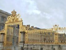 Versalles pałac złoty drzwi Zdjęcia Stock