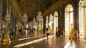 VERSALLES, PAR?S, FRANCIA 23 DE SEPTIEMBRE DE 2015: pasillo iluminado por el sol de espejos, Par?s del palacio de Versalles foto de archivo libre de regalías