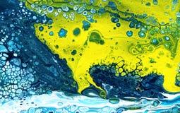 Versamento acrilico Fondo colourful multicolore illustrazione di stock