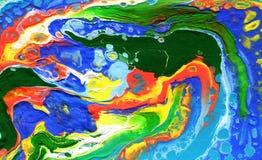 Versamento acrilico Fondo colourful multicolore illustrazione vettoriale