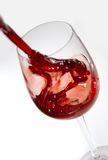 Versamento del vino rosso Fotografia Stock Libera da Diritti