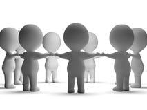 Versammlung von den Charakteren 3d, die Gemeinschaft oder zusammen zeigen vektor abbildung