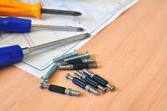 Versammlungsarbeitsgeräte lizenzfreies stockbild