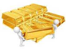 Versand des Goldes Stockfotografie