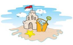 Versanden Sie Schloss Lizenzfreies Stockbild