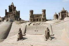 Versanden Sie Schloss stockbilder