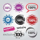 Vector sign 100. Versatile collection of exclusive  icons Stock Photos