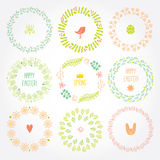 Versatile wreaths. Spring ornament for decorating Stock Photography