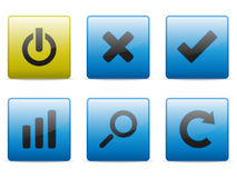 Versatility buttons set Stock Photography