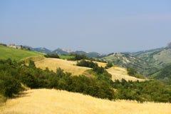 Verschönern Sie in Emilia-Romagna (Italien) am Sommer landschaftlich stockbild