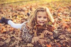 Verschönern Sie kleines Mädchen in der Natur Stockfotografie