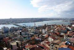 Verschönern Sie Stadt von Istanbul vom Galata Kontrollturm, ein PA landschaftlich Lizenzfreies Stockbild