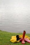 Verschütten Sie den Regenmantel Lizenzfreies Stockfoto