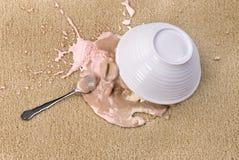 Verschüttete Eiscreme