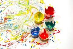 Verschüttete Farbe Stockfoto