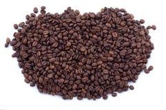 Verschüttete Kaffeebohnen Stockbild