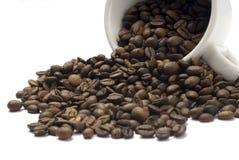 Verschüttete Kaffeetasse Stockfotos