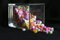 Verschüttete Süßigkeiten Stockfotografie