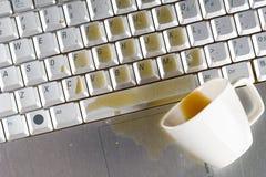 Verschütteter Kaffee stockbilder