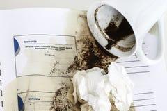 Verschütteter Kaffee Lizenzfreies Stockbild