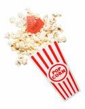 Verschüttetes Popcorn Stockfotos