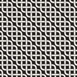 Verschachtelte Linien keltische ethnische Verzierung Vektornahtloses Schwarzweiss-Muster stock abbildung