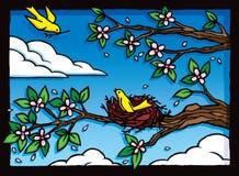 Verschachtelungs-Vogel Lizenzfreies Stockfoto