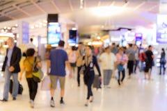 Verschalender Bereich unscharfer Hintergrund des Flughafens Lizenzfreies Stockbild