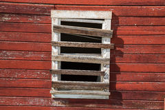 Verschalt herauf Fenster in der Geisterstadt von Kennicott, Alaska Früher a Stockbild