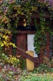 Verschalt herauf Tür im alten Keller Lizenzfreie Stockfotografie