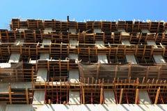 Verschalungssysteme an der Baustelle Lizenzfreies Stockfoto