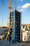 Verschalungssysteme im Bau Stockbilder