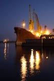 Verscheep haven Royalty-vrije Stock Afbeeldingen
