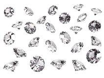 Verscheidene diamanten Stock Foto's