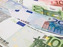 Verscheidene euro bankbiljetten Royalty-vrije Stock Fotografie
