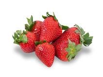 Verscheidene geïsoleerde bessen rijpe aardbeien Royalty-vrije Stock Fotografie