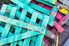 Verscheidene gekleurde omheiningen Stock Fotografie