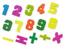 Verscheidene gekleurde stuk speelgoed cijfers Royalty-vrije Stock Foto