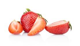 Verscheidene gesneden aardbeien Stock Fotografie