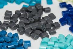 Verscheidene geverfte polymeerharsen Royalty-vrije Stock Foto's