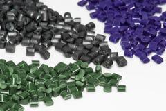 Verscheidene geverfte polymeerharsen Stock Foto