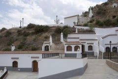 Verscheidene hersteld hol huisvesten dichtbij Guadix, Andalusia, Spanje Royalty-vrije Stock Afbeelding