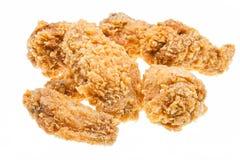 Verscheidene hete gebraden kippenvleugels Stock Foto