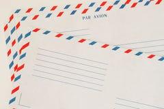 Verscheidene klassieke Voorzijde van de Luchtpostenvelop Gerimpelde (document) textuur Met plaats uw tekst, achtergrondgebruik Co Stock Afbeelding