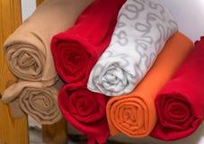 Verscheidene kleurrijke plaiden royalty-vrije stock fotografie