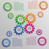 Verscheidene kleurrijke toestellen van infographic Royalty-vrije Stock Foto